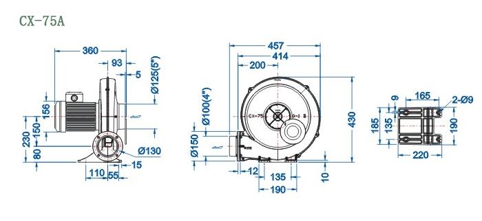 CX-75A尺寸图
