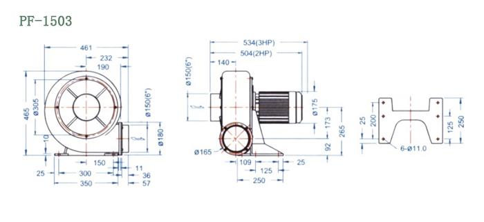 PF-1503尺寸图