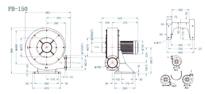 PB-150尺寸图