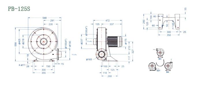 PB-125S尺寸图