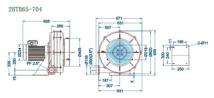 2HTB65-704尺寸图