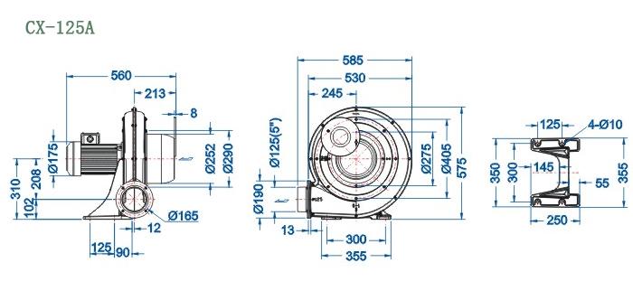 CX-125A尺寸图