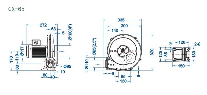 CX-65尺寸图